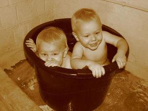 piscine double